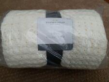 "New Threshold Chunky Knit Throw Blanket - Cream/Ivory Oeko Tex - Size: 50""x60"""