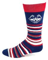 Connecticut (UConn) Huskies NCAA Muchas Rayas Crew Fuzzy Socks One Size