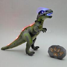 Remote Control Walking Dinosaur Lights Sounds RC Dancing Kid Pet Toy Animal