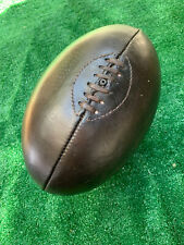 More details for dark brown vintage 1920's style leather rugby ball with defects