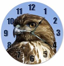 """10.5"""" RED TAILED HAWK CLOCK - Large 10.5"""" Wall Clock - Home Décor Clock - 3125"""