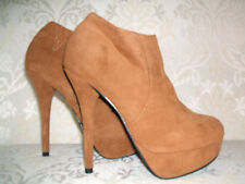 Chix Zip Stiletto Faux Suede Shoes for Women