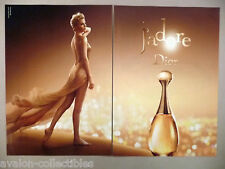 Charlize Theron for Dior J'Adore Perfume 2-Page PRINT AD - 2014