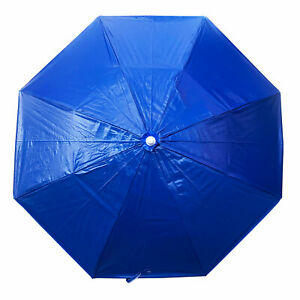 Shelta Avalon Vinyl Beach Garden Umbrella 2.0m Octagonal Royal Blue