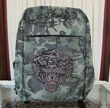 Ed Hardy Christian Audigier Laptop Backpack Camo School Travel Work Bag NWT