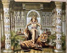 Gobelin Panel Textilbild Große Königin Kleopatra ca.92x73 cm Stoff NEU