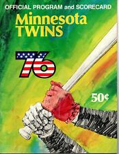 Minnesota Twins Program-Scorecard 1976 vs. Cleveland Indians