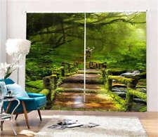 Woodbridge Moss Forest 3D Curtain Blockout Photo Printing Curtains Drape Fabric