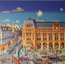"""Hiro Yamagata       """"Gare St. Lazare""""       Serigraph on Coventry Paper   BA"""