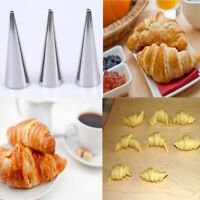 5pcs Horn Baking Maker Spiral Tube Stainless Steel Cake Mold Baked Croissants
