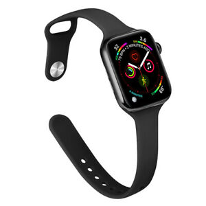 40/44mm Slim Silicone Sports Band Strap for Apple Watch SE iWatch Series 6 5 4 3