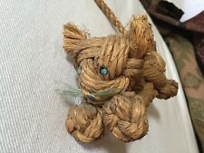 Wooden Cat Tiger  BOJESEN or ZOO LINE Rope MCM 5 Inches