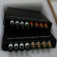 MultiFunctional 4Channel Digital Video/Audio/Data Fiber Optic Converter for CCTV