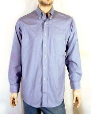 Como Brooks Brothers Fino Azul Blanco Micro Diseño 'Pata de Gallo' Camisa