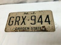 Vintage New Jersey License plate 1960s  GRX-944 Free Shipping