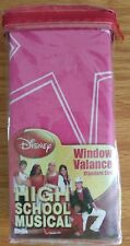 "Disney High School Musical Valance HOT PINK 84"" x15"" School Twist NEW Girls Room"