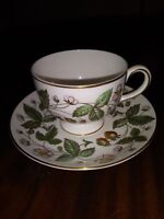 Wedgwood Cup & Saucer STRAWBERRY HILL Bone China Made in England
