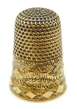 VINTAGE Solid 14k Yellow Gold Sewing Thimble
