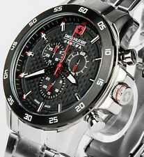 SWISS MILITARY HANOWA Edelstahl Herren Chronograph Chrono Uhr NEU Flagship S32