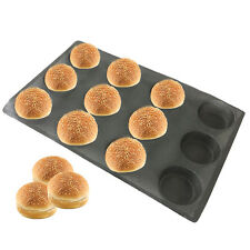 12 Loaves Silicone Baking Molds Perforated Bun Bread Forms Round Shapes