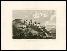 1785 Original Antique Print - HASTINGS CASTLE, SUSSEX (T133)