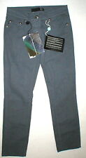 New NWT Designer Just Cavalli Jeans Gray 24 Italy Skinny Womens Black Crop Glam