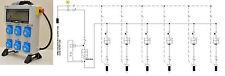 Quadro Elettrico da Cantiere-n.6 prese Monofase16A IP67-6KW 230V.+Emergenza