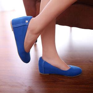 Women Slingback Mid Wedge Heel Slip On Pumps Suede Comfort Pointed Shoes