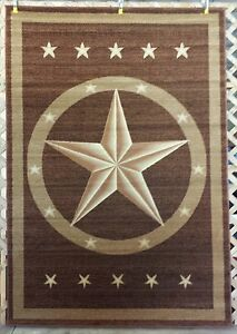 Western Texas Star Country Rustic Southwest Lodge Area Rug Carpet 3X4, 5X8, 8X11