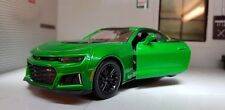 1:24 Scale Green Chevrolet Camaro ZL1 2017 Motormax Diecast Model Car 79351