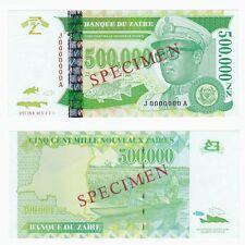 1996 ZAIRE 500,000 New Zaires *SPECIMEN* P78s - UNC.