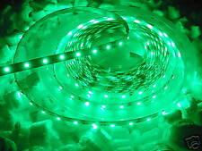 VERDE 5m LED STRIP STRISCIA IMPERMEABILE 12v 4.8w/m 300x smd3528 24w IP65 C3E3