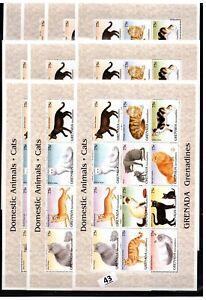 / 10X GRENADA - MNH - CATS - PETS - ANIMALS - WHOLESALE
