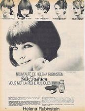 PUBLICITE ADVERTISING 094 1965 HELENA RUBINSTEIN silk fashion fard à joues