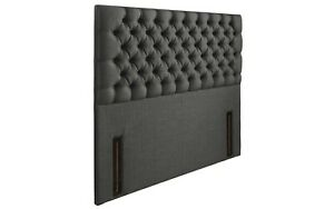 """Luxury 54"""" Upholstered Floor Standing Buttoned Headboard All Sizes & 8 Colours"""
