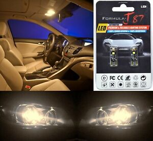 Canbus Error LED Light 168 Warm White Two Bulbs Interior Map Replacement Stock
