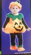 Infant Toddler Plush Pumpkin Halloween Costume (NEW)
