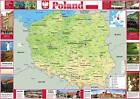 Wall Map of Poland Paper Laminated 23.4 x 16.5 inches