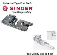 Rolled Hem Hemmer pied standard 2 mm Fits SINGER machines-Quick Clip on