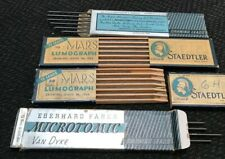 Vintage STAEDTLER MARS  & EBERHQRD FABER - 4 PARTIAL PKGS DRAWING LEAD