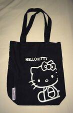 Borsa sacca nera donna shopping bag Hello Kitty By Sanrio cotone