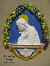 Madonna DELLA ROBBIA angelo arco ceramica decorata a mano con frutta + OMAGGIO