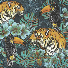 Lot de 2 Serviettes en papier Nature Sauvage Tigre Decoupage Decopatch