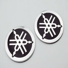 2pcs 4.5cm Oil Tank Badge Fairing Emblem 3D Decal Sticker For Yamaha Motorcycles