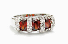 18K White Gold Filled Women's Ring Cubic Zircon  Red Size 8 - FREE Shipping