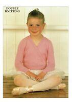 KNITTING PATTERN Ballet top / cardigan / DK, 5 sizes starting at 12 months. girl