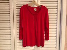 Anne Klein ladies sz L red knit pullover top