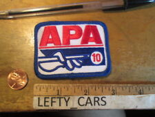 1 APA10 Pool Stick EMBROIDERED Cloth PATCH - SEW ON TYPE