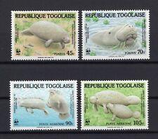WWF Togo Wild Animals Lamantin set clean MNH