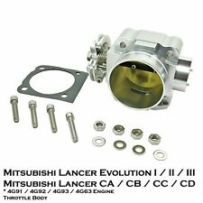 70mm Aluminium Throttle Body Fit Mitsubishi Lancer Evo 1 2 3 4G63 4G91 4G92 4G93